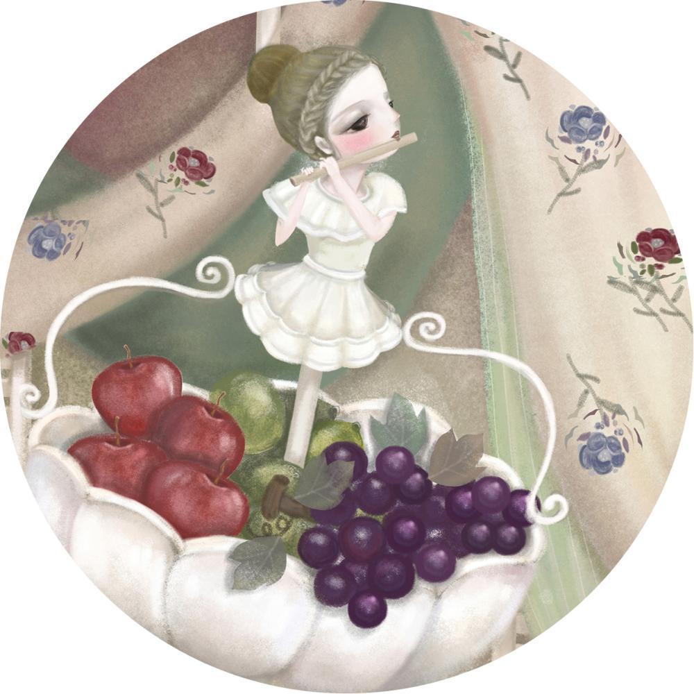 YOSHI850|手繪愛情系列:吸水杯墊【豐收】(方.圓)