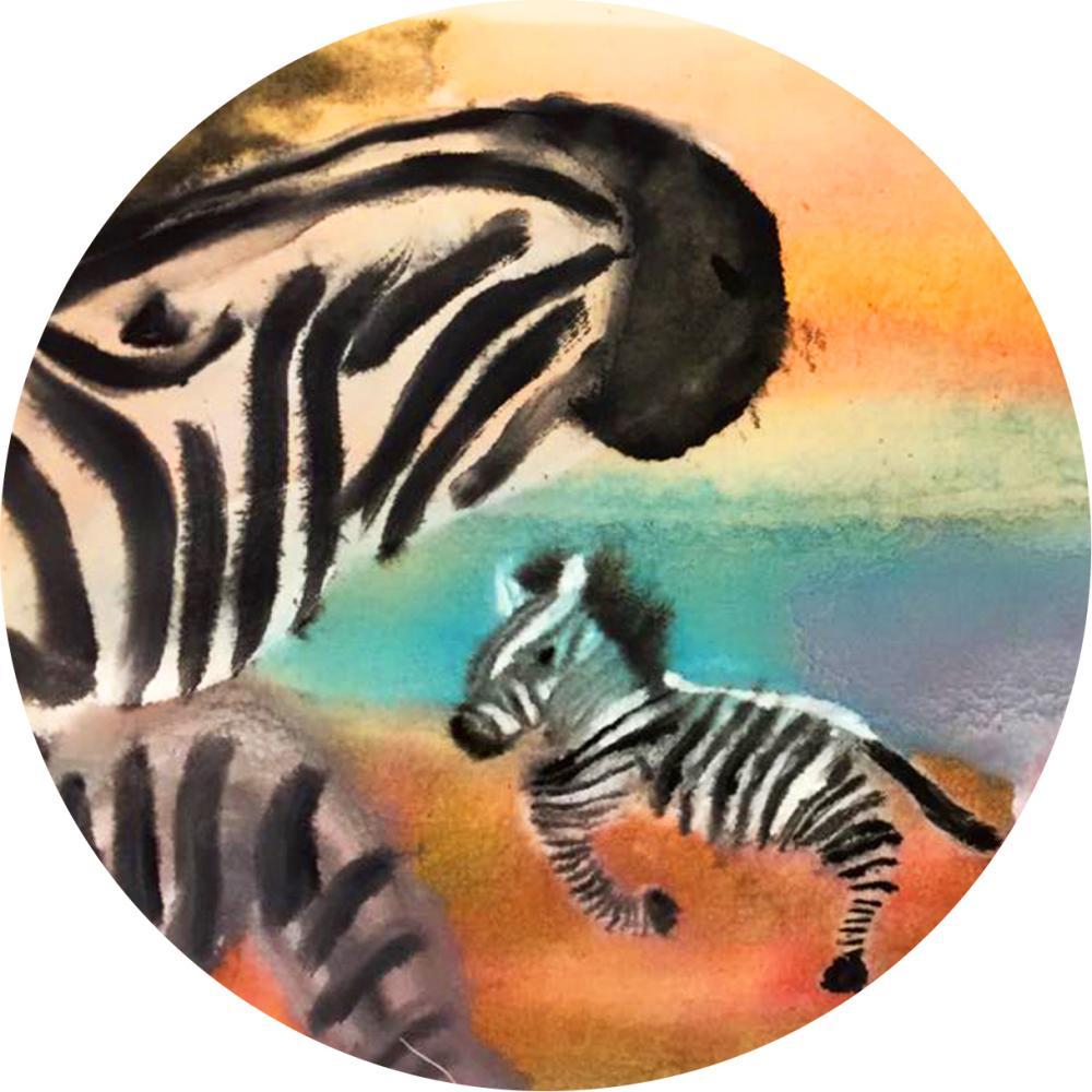 YOSHI850|新創設計師系列:吸水杯墊【斑馬】850 Collections(方.圓)