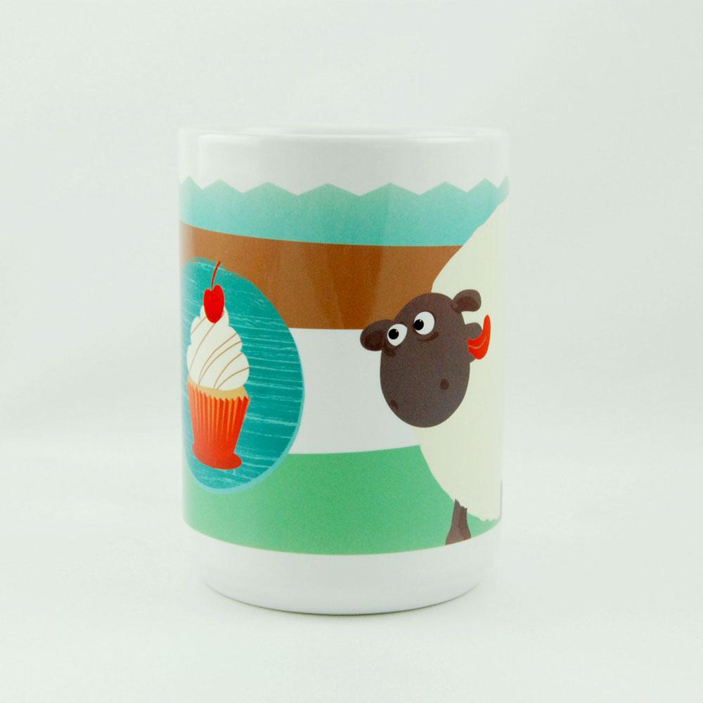 YOSHI850|笑笑羊正版授權:牛奶杯【02 Shirley的櫻桃蛋糕】