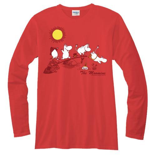 YOSHI850 Moomin嚕嚕米正版授權【08】長袖T-shirt (修身/中性)紅色