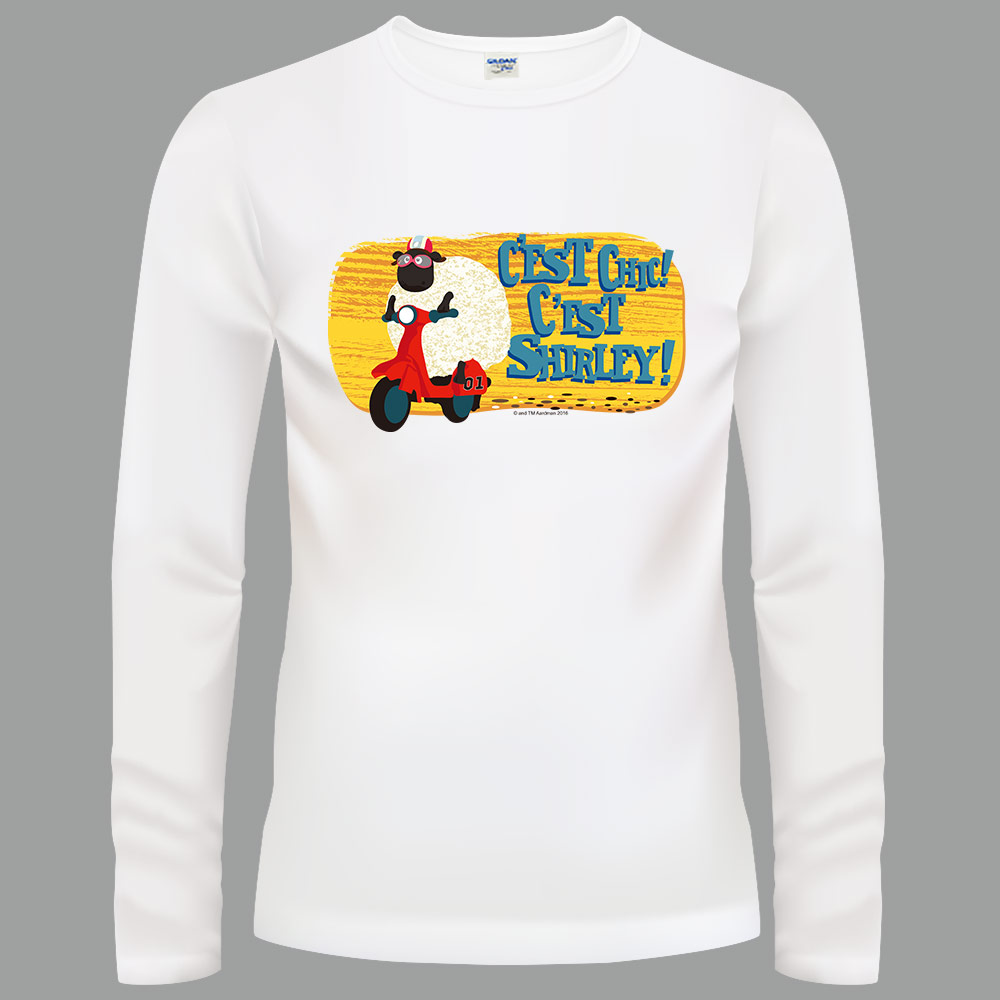 YOSHI850|笑笑羊正版授權【10 砰砰歐兜邁】長袖T-shirt (修身/中性)2種顏色