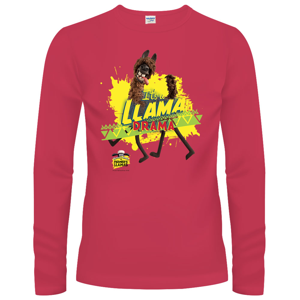 YOSHI850|笑笑羊正版授權【13 Raul】長袖T-shirt (修身/中性)紅色