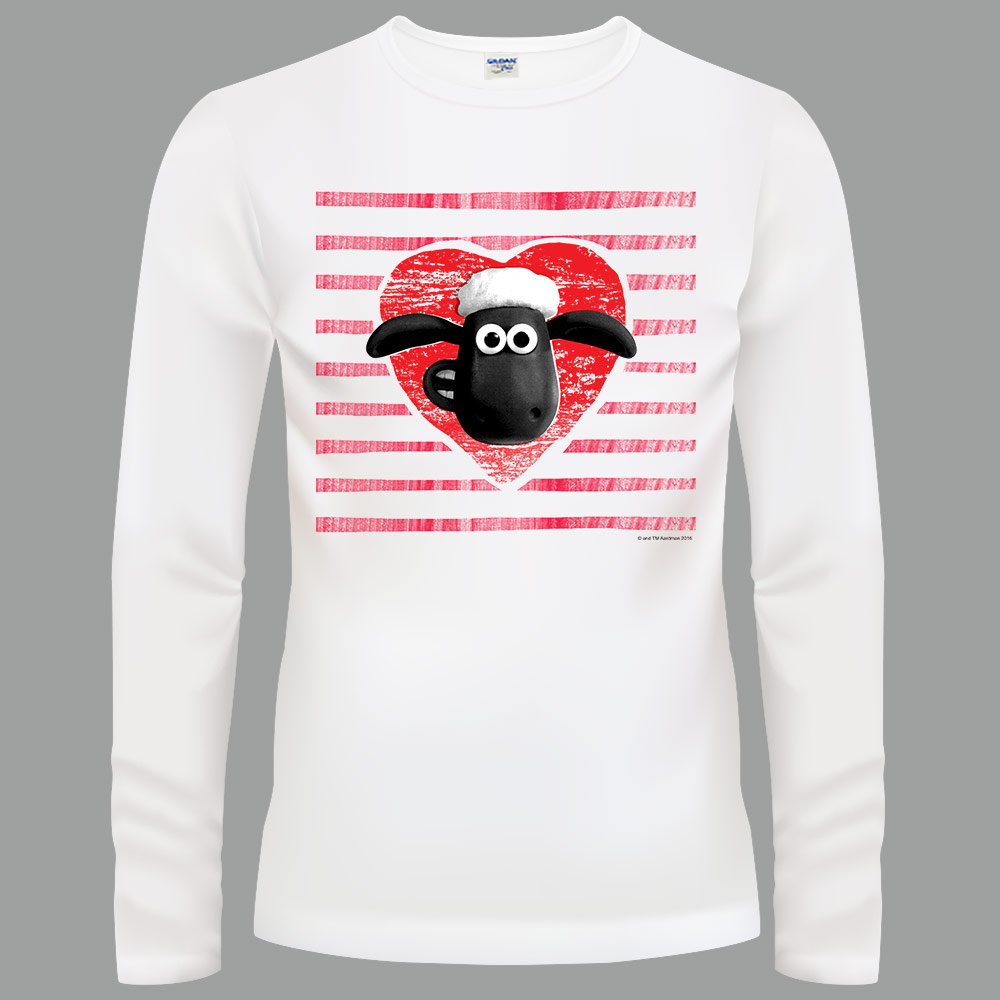 YOSHI850|笑笑羊正版授權【17 我愛笑笑羊】長袖T-shirt (修身/中性)白色