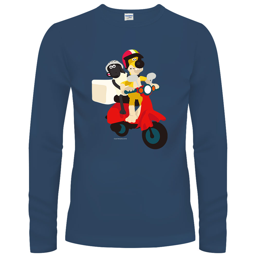 YOSHI850|笑笑羊正版授權【22 笑笑羊快遞】長袖T-shirt (修身/中性)2種顏色
