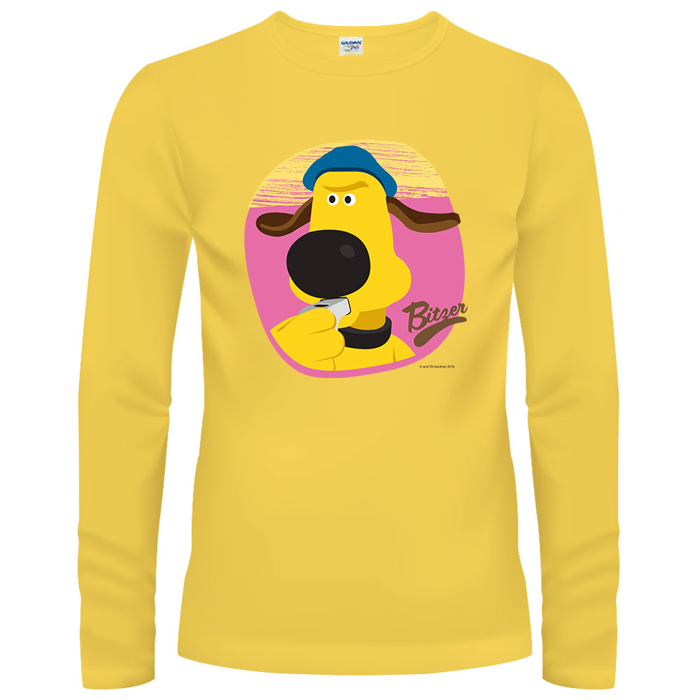 YOSHI850 笑笑羊正版授權【23 Bitzer】長袖T-shirt (修身)黃色