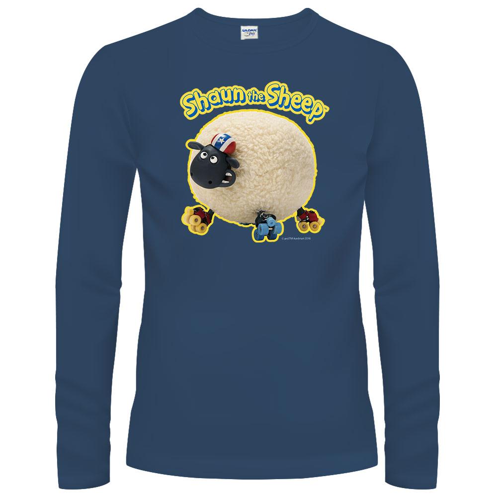YOSHI850|笑笑羊正版授權【27 滑倒的雪莉】長袖T-shirt (中性)藏青色