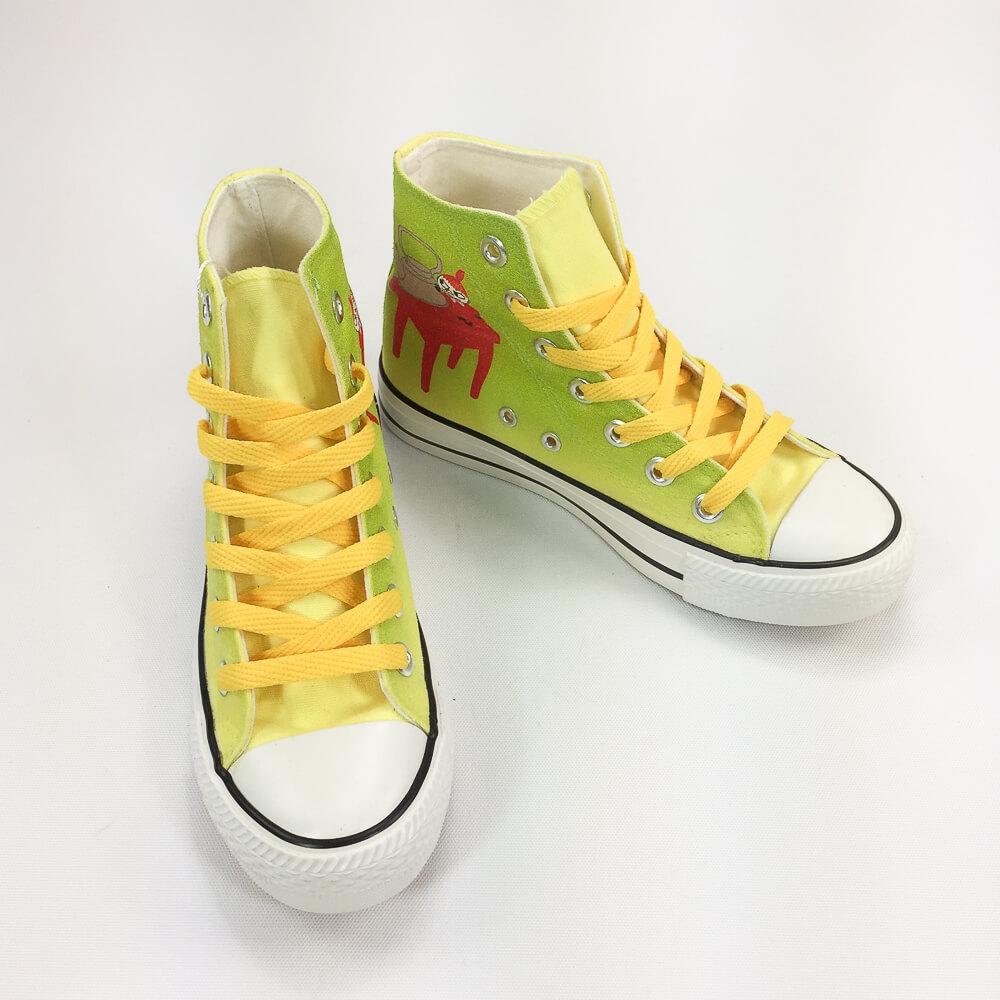 YOSHI850|Moomin嚕嚕米正版授權:帆布鞋【14黃鞋黃帶】