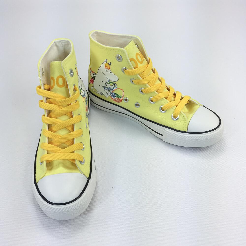 YOSHI850|Moomin嚕嚕米正版授權:帆布鞋【15黃鞋橘帶】