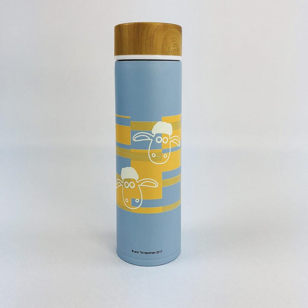 YOSHI850|笑笑羊正版授權:木紋蓋保溫瓶(大-500ml)【03 藍】