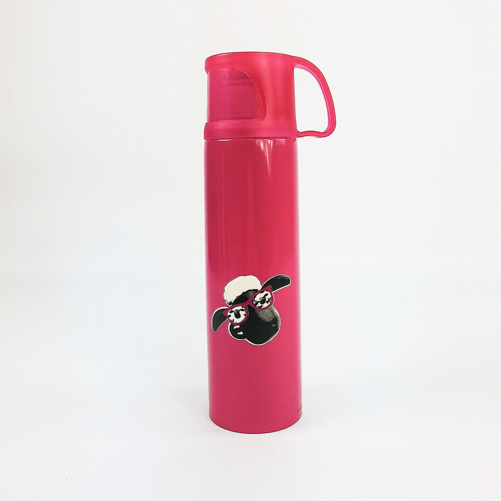 YOSHI850|笑笑羊正版授權:杯蓋保溫瓶(大-500ml)【02 桃】