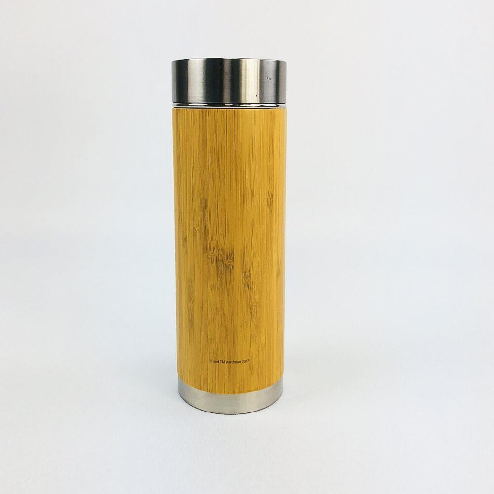 YOSHI850|笑笑羊正版授權:木紋不鏽鋼保溫瓶(大-420ml)【01】