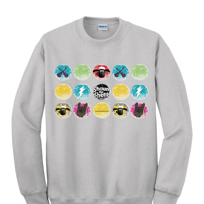 (複製)YOSHI850|笑笑羊正版授權:大學T【滑倒的雪莉】成人長袖 T-shirt (寶石藍)