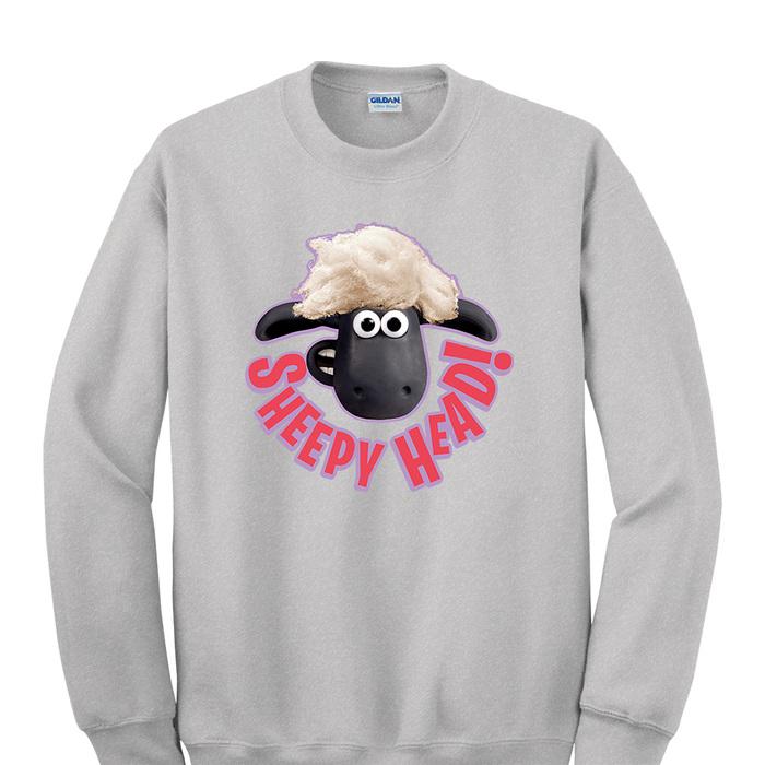 (複製)YOSHI850|笑笑羊正版授權:大學T【搖滾時光】成人長袖 T-shirt (麻灰)