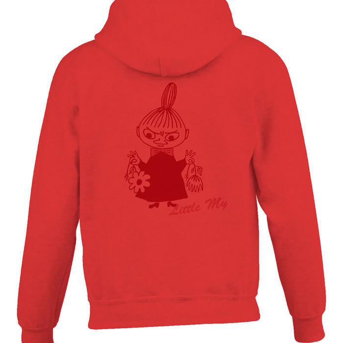 (複製)YOSHI850|Moomin嚕嚕米正版授權:連帽夾克【等待寒冬】成人長袖(桃紅)