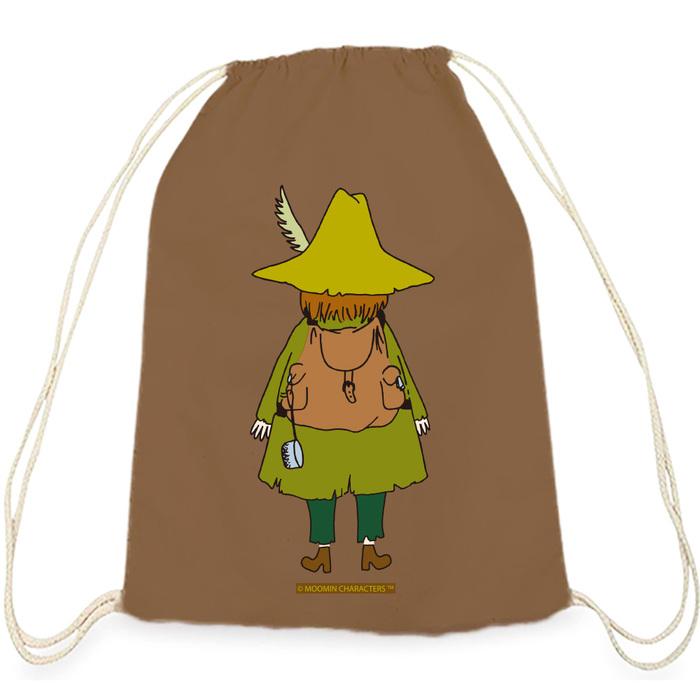 (複製)YOSHI850 Moomin嚕嚕米正版授權:彩色束口後背包【花漾嚕嚕米】果綠