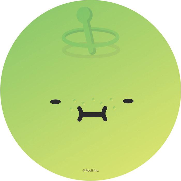 (複製)YOSHI850 新創設計師 - 沒個性星人Roo:吸水杯墊【02大臉嚕】(圓)