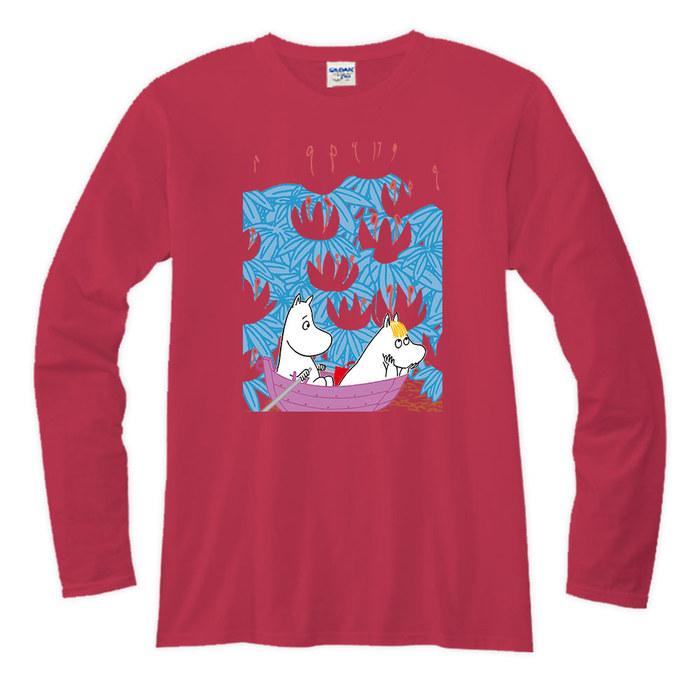 (複製)YOSHI850 Moomin嚕嚕米正版授權【06 The Moomins】長袖T-shirt (修身/中性)紅色