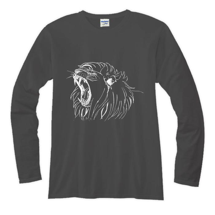 (複製)YOSHI850|新創設計師系列-伊黛萱【01 河東獅吼】長袖T-shirt (修身/中性)白色