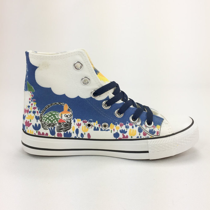 (複製)YOSHI850|Moomin嚕嚕米正版授權:帆布鞋【04粉鞋粉帶】