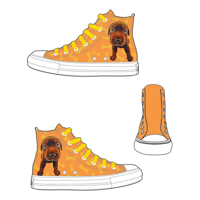 (複製)YOSHI850|新創設計師-人人商行The Dog:帆布鞋【02 黃鞋咖帶】