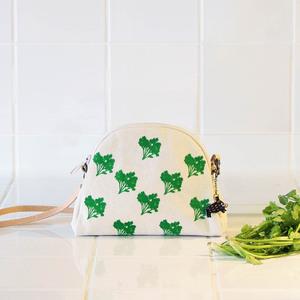 蘑菇Mogu|水洗帆布化妝包-香菜