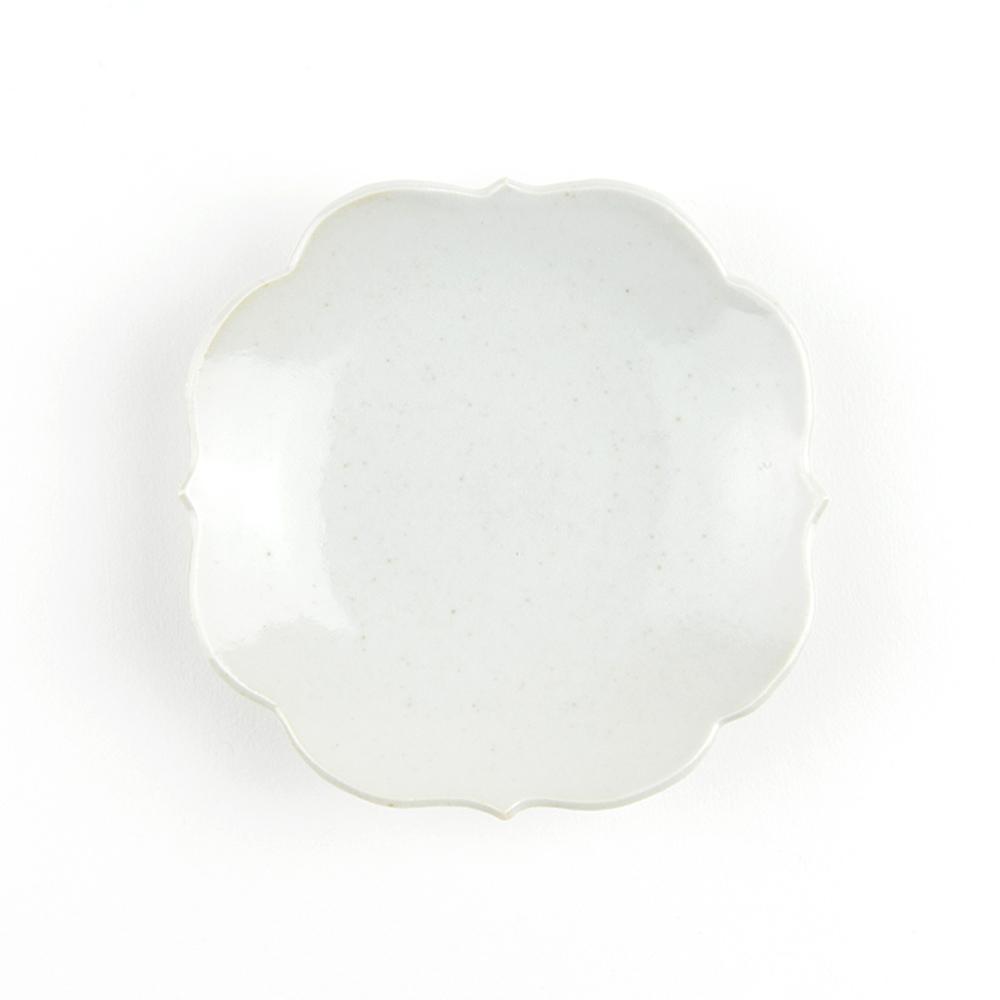 KIHARA 古白磁-四稜小皿