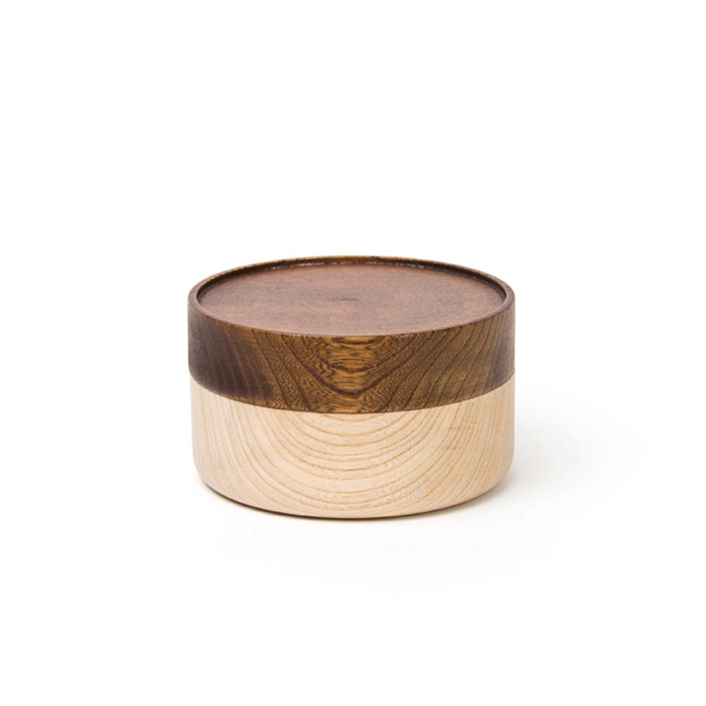 畑漆器店 HATASHIKKITEN|木製容器 HAKO S(咖啡色)