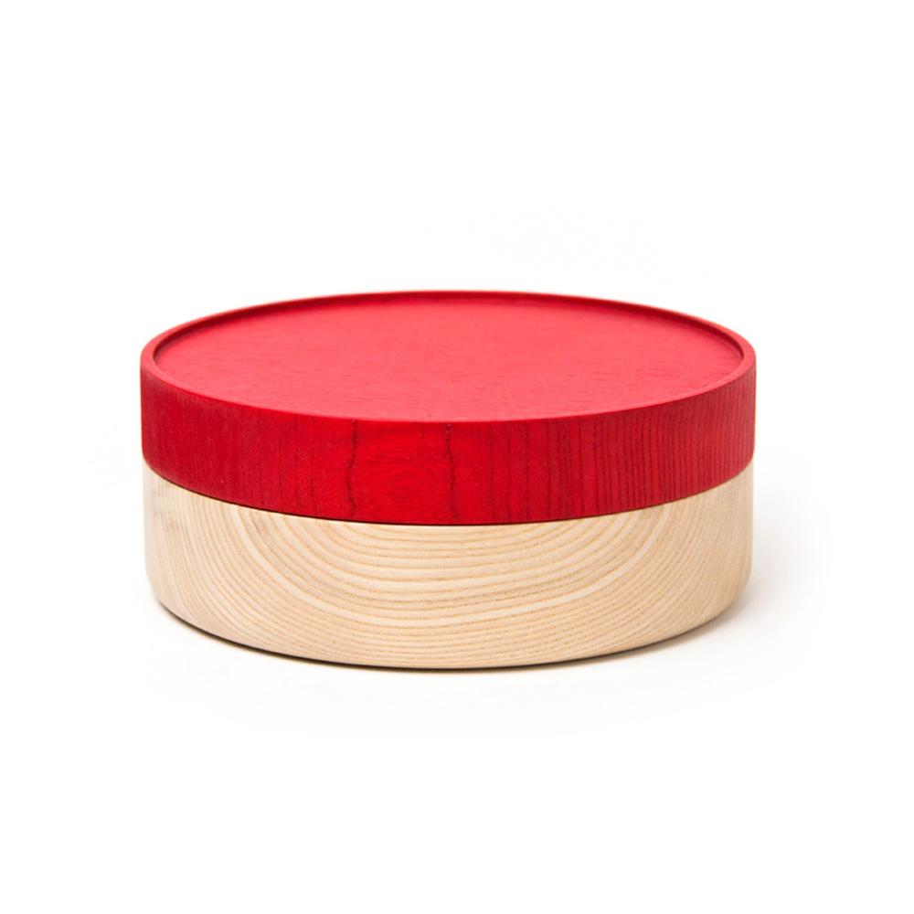 畑漆器店 HATASHIKKITEN|木製容器 HAKO L(紅色)