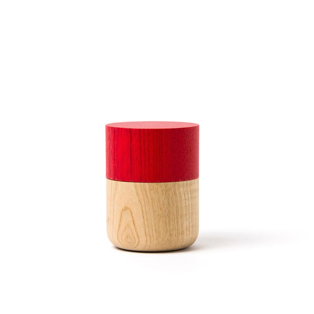 畑漆器店 HATASHIKKITEN|密封罐 TUTU S(紅色)