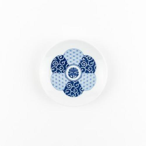 KIHARA 豆皿-寿紋