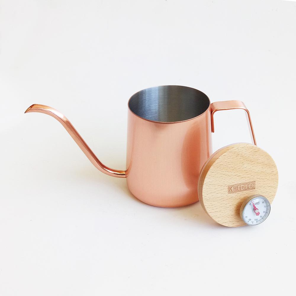 A-IDIO 人文時尚手沖細口壺(玫瑰金)-350ml