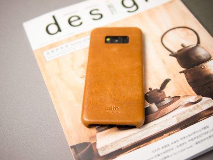 Alto|Samsung Galaxy S8 真皮手機殼背蓋 Original - 焦糖棕