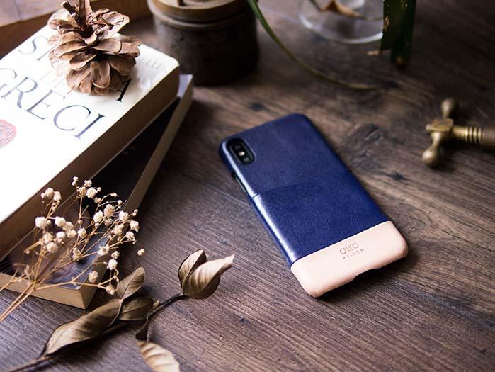 (複製)Alto|iPhone X 皮革保護殼 Metro (渡鴉黑/萊姆綠)
