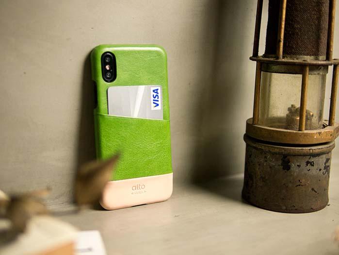 (複製)Alto|iPhone X 皮革保護殼 Metro (焦糖棕/渡鴉黑)