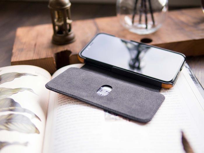 (複製)Alto|alto iPhone X 側翻式皮革手機套 Foglia - 海軍藍