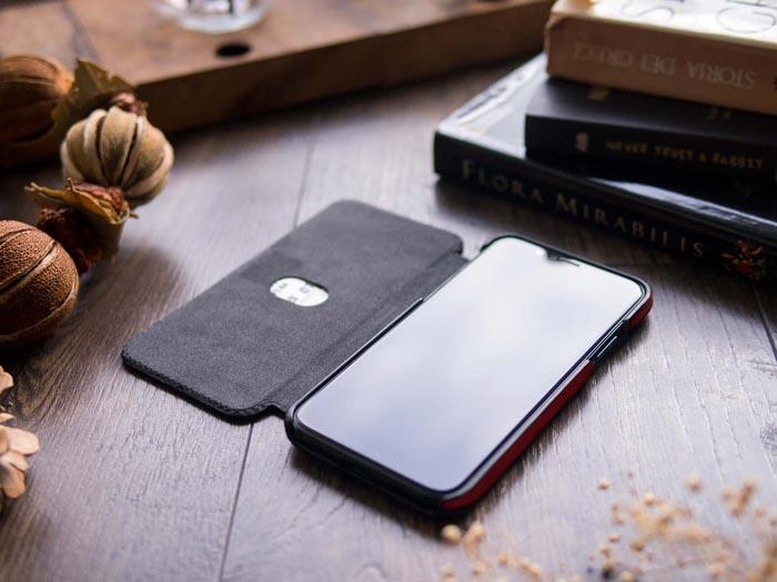 (複製)(複製)Alto|alto iPhone X 側翻式皮革手機套 Foglia - 焦糖棕