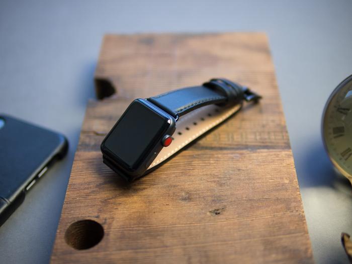 Alto|Apple Watch 皮革錶帶 42mm - 渡鴉黑