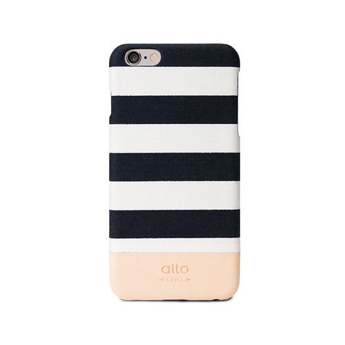 Alto|iPhone 6 Plus / 6S Plus 真皮手機殼背蓋,Denim(白條紋)