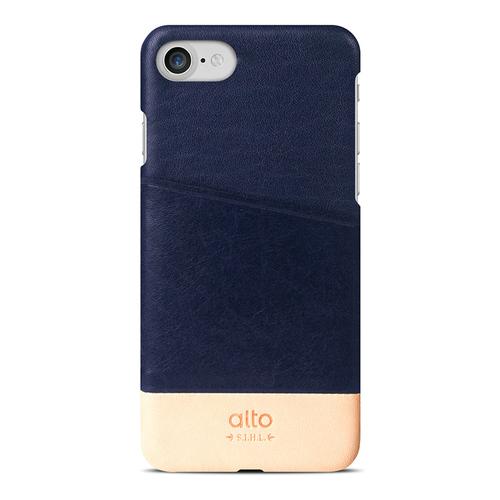 Alto|iPhone 8 / iPhone 7 真皮手機殼背蓋,Metro(海軍藍/本色)