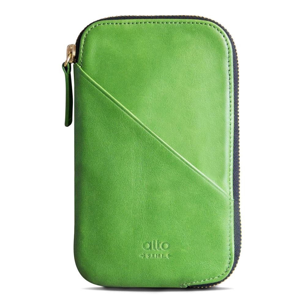 alto|皮革手機收納包 - 萊姆綠