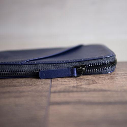 alto 皮革手機收納包 - 海軍藍