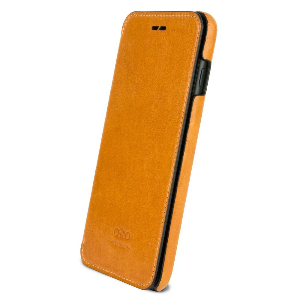 Alto alto iPhone 7 Plus 側翻式皮革手機套,Foglia(焦糖棕)