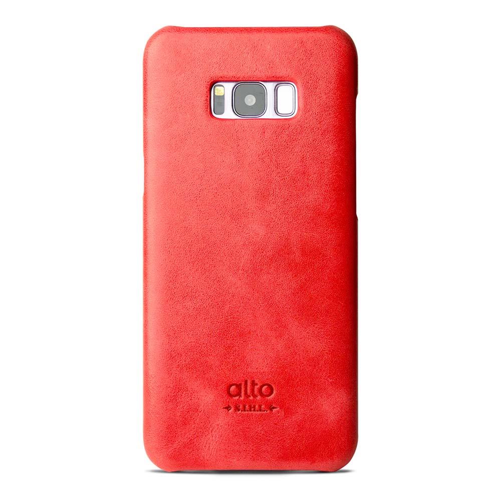 Alto|Samsung Galaxy S8+ 真皮手機殼背蓋 Original - 珊瑚紅