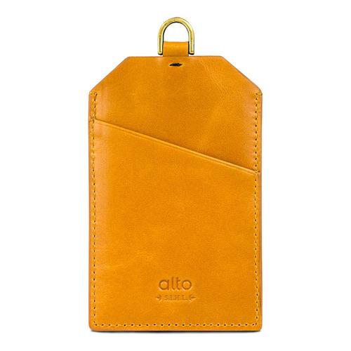 Alto alto 皮革證件套 Badge Holder (焦糖棕)