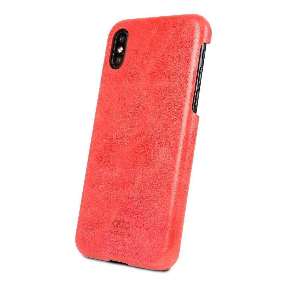 Alto|iPhone X 皮革保護殼 Original (珊瑚紅)