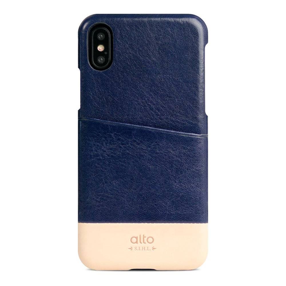 Alto|iPhone X 皮革保護殼 Metro (海軍藍/本色)