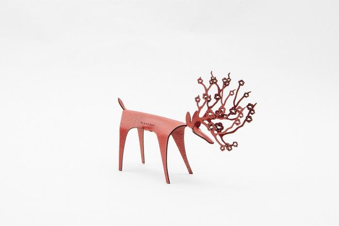 PLEASANT 櫻花快鹿禮卡 Deer Card Blossom(櫻桃)