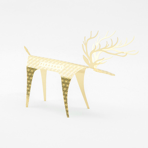 PLEASANT, 黃銅快鹿禮卡 Deer Card Brass