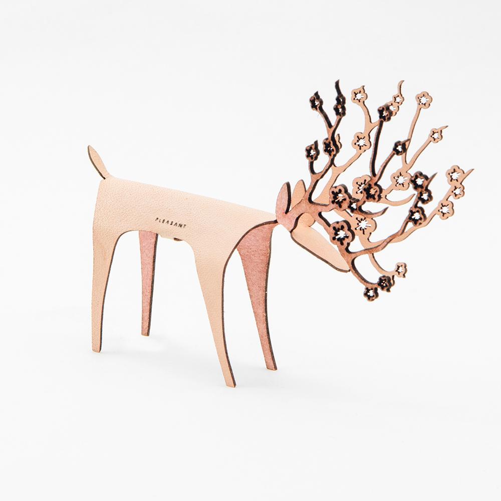 PLEASANT 櫻花快鹿禮卡 Deer Card Blossom(粉紅)