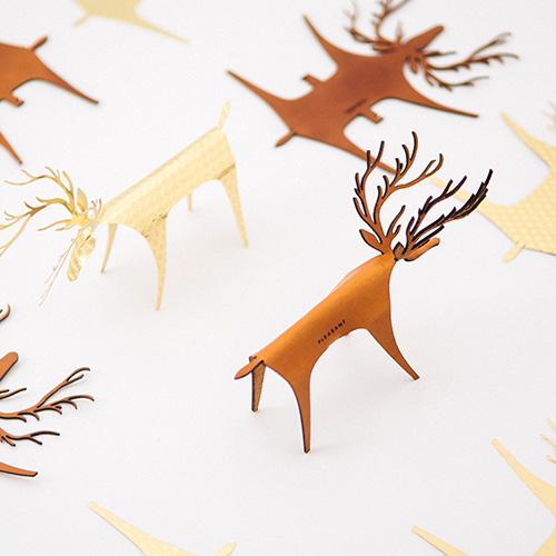 PLEASANT │ 快鹿禮卡收藏組 ( 經典快鹿(棕) + 愛你快鹿 + 黃銅快鹿)